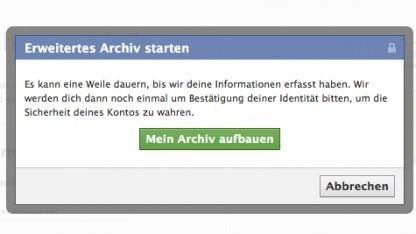 Facebooks Lade deine Informationen herunter nun mit erweitertem Archiv