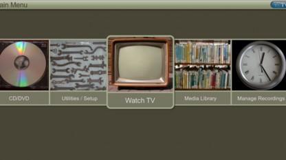 Das Hauptmenü von MythTV