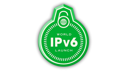 Logo der Internet Society zum IPv6-Start am 6. Juni 2012