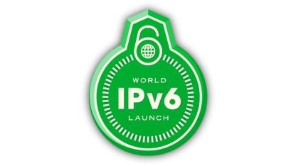 Ein Logo der Internet Society zum IPv6-Start am 6. Juni 2012