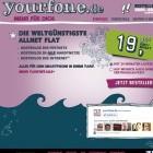 Yourfone.de von E-Plus: 20-Euro-Flatrate für alle Netze und mobiles Internet