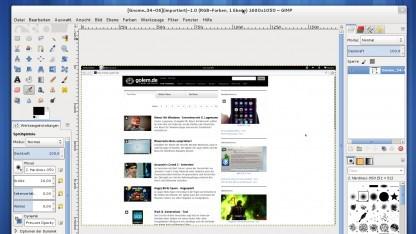 Gimp 2.8 mit dem Ein-Fenster-Modus unter Fedora 17