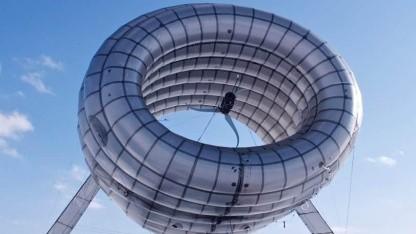 Fliegende Windturbine: vom Anhänger aus betrieben
