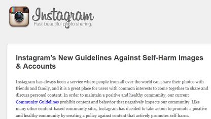 Blogeintrag von Instagram