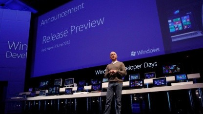 Steven Sinofsky kündigt die Windows 8 Release Preview an.