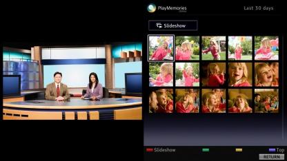 So sieht Playmemories Online auf Bravia-Fernsehern aus.