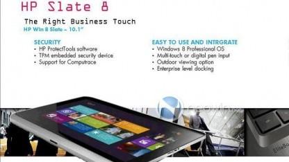 Neowin hat eine Präsentationsfolie des HP Slate 8 zugespielt bekommen.