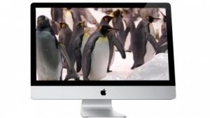 Der iMac ähnelt einem Fernseher.