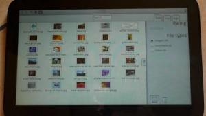 Der Dateibrowser von Plasma Active 3 auf dem WeTab