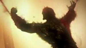 Schattenriss von Kratos im Trailer von God of War 4