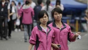 Mittagspause in einer Foxconn-Fabrik in Shenzhen