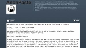 Anonymous setzt künftig auf Anonpaste statt auf Pastebin.