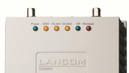 Lancom Access Point funktioniert zwischen -30 und +65 Grad Celsius.