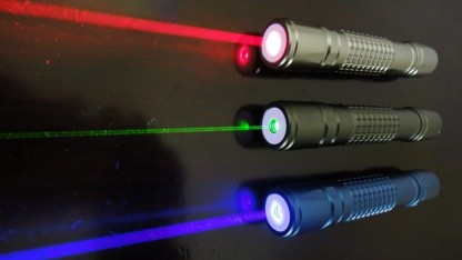 WDM-VLC-System: Drahtloses Netzwerk überträgt 1 GBit/s mit Laserpointern
