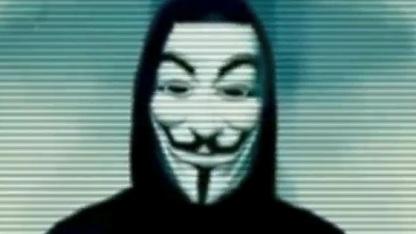Mutmaßlicher Vertreter von Anonymous