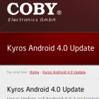Ice Cream Sandwich: Android-4-Update für Cobys Kyros-Tablets ist da