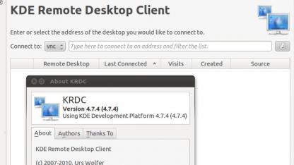 Der KDE-Client verwendet LibVNCServer.