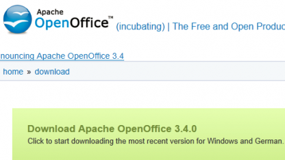 Openoffice 3.4 ist fertig.