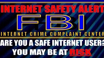 Dieses FBI-Poster ermahnt Internetnutzer zur Aufmerksamkeit.