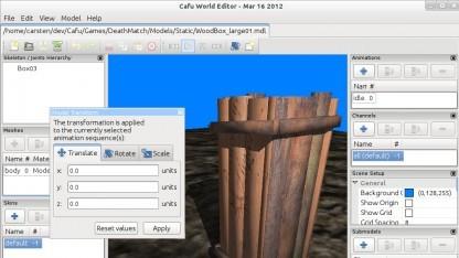 Der Model Editor von Cafu 12.05
