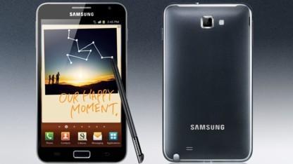 Android 4 für Galaxy Note ist da.