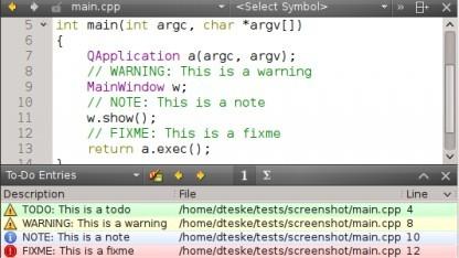 Qt Creator 2.5 mit Todo-Plugin