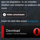 Browser: Opera 11.64 beseitigt gefährliches Sicherheitsloch