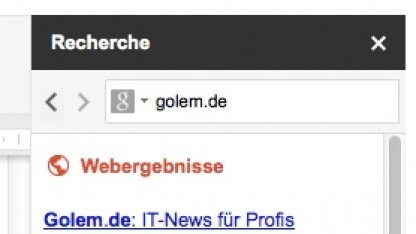 Google Docs mit Recherchefunktion