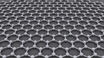 Die ideale kristalline Struktur von Graphen ist ein sechseckiges Gitternetz.