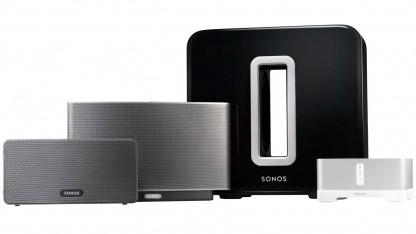 Das Sonos Sub ergänzt bestehende Netzwerkplayer von Sonos.