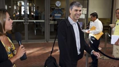 Darf sich als Gewinner fühlen: Google-Chef Larry Page auf dem Weg zum Gericht