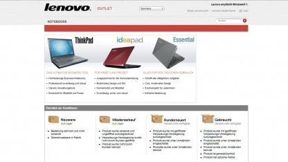 Lenovo startet einen Outlet Store für PC-Sonderangebote im Internet.