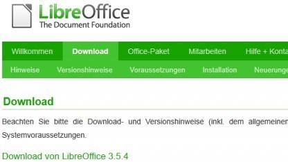 Libreoffice 3.5.4 ist da.