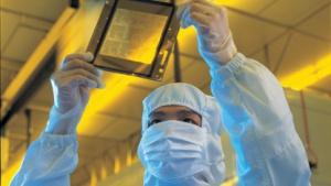 Chipfertigung im Reinraum von TSMC