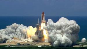 Start der Discovery auf dem Kennedy Space Center in Florida