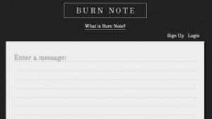 Burnnote verschickt sich selbst zerstörende Nachrichten.