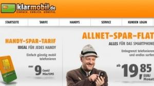 Klarmobil-Webseite