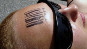 Barcode: Scanner auf Menschen richten