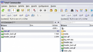 Screenshot aus dem Dateimanager Total Commander (Bild: Christian Ghisler, CC-BY 2.0), Dateimanager