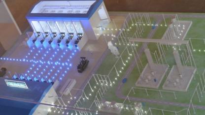 Modell einer HGÜ-Umrichter-Station