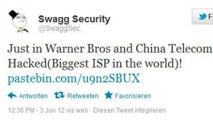 Swaggsec-Meldung auf Twitter: Server ausgetauscht, Passwörter nicht