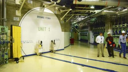 Zugang zum Reaktor im US-Atomkraftwerk Browns Ferry: Hitzewelle und kein Strom
