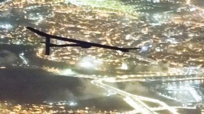 Solar Impulse im Anflug auf Rabat: magischer Moment über Gibraltar