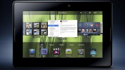 Blackberry Playbook mit 16 GByte verschwindet.