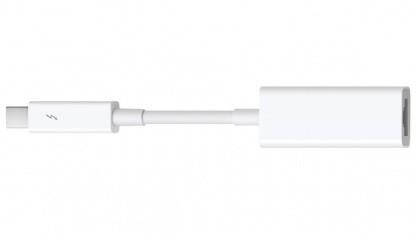 Das Mac-OS-X-Update unterstützt auch den neuen Thunderbolt-zu-Gigabit-Ethernet-Adapter.