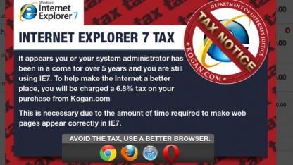 Internet Explorer 7: Onlineshop erhebt IE7-Steuer