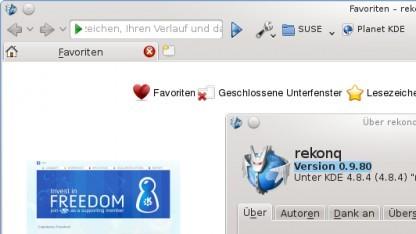 Rekonq 1.0 ist als Vorschau verfügar.