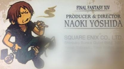 Visitenkarte von Produzent und Chefentwickler Naoki Yoshida