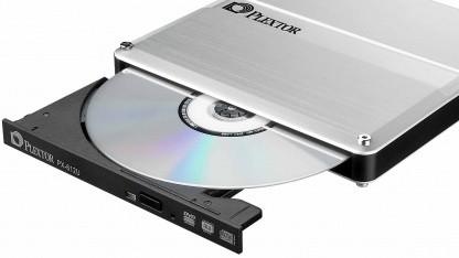Plextor PX-612U täuscht dem Fernseher eine Festplatte vor.