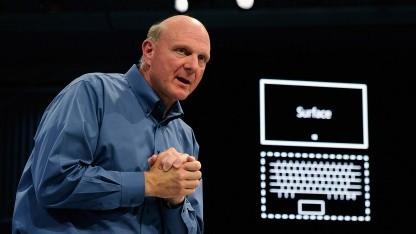 Microsoft-Chef Steve Ballmer bei der Vorstellung der Surface-Tablets